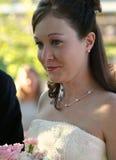 Eyed Bruid van Teary van het huwelijk stock foto's