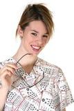 Eyedoctor femminile sorridente Fotografia Stock