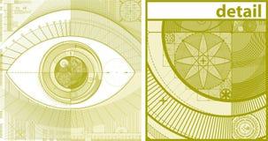 Eyedraft Hintergrund Stockfotos