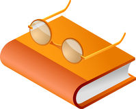 eyeglass βιβλίων Στοκ Εικόνες