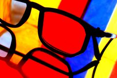 Eyeglass Abstract Royalty Free Stock Images