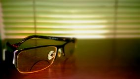 Eyeglass Afternoon. Cozy eyeglass silhouette Royalty Free Stock Photos