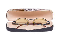 Eyeglass With Container. Stock Photography