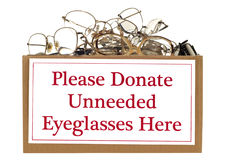 Eyeglass Donation Box Royalty Free Stock Photos