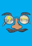 Eyeglass fun art vector picture Royalty Free Stock Photos