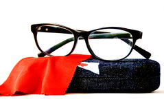 Eyeglass. The isolated of black eyeglass royalty free stock images