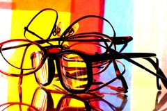 Eyeglass Stack Abstract Royalty Free Stock Photography
