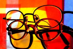 Eyeglass Stack Abstract Royalty Free Stock Image