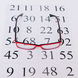 Eyeglasses ανάγνωσης και διάγραμμα ματιών Στοκ φωτογραφία με δικαίωμα ελεύθερης χρήσης