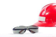 eyeglasses ασφάλεια κρανών Στοκ φωτογραφία με δικαίωμα ελεύθερης χρήσης