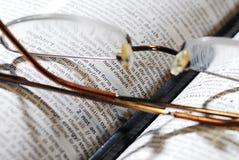 eyeglasses βιβλίων μολύβι Στοκ Φωτογραφίες
