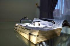 eyeglasses βιβλίων τρύγος ύφους Στοκ Εικόνα