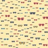 Eyeglasses γυαλιών ηλίου μόδας βοηθητικό διανυσματικό άνευ ραφής σχέδιο απεικόνισης ελεύθερη απεικόνιση δικαιώματος