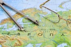 eyeglasses μέτρηση οργάνων Στοκ φωτογραφία με δικαίωμα ελεύθερης χρήσης