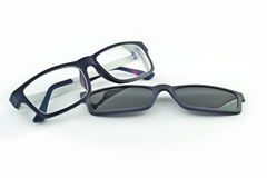 Eyeglasses με ένα sunblock Στοκ εικόνα με δικαίωμα ελεύθερης χρήσης