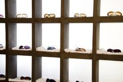 eyeglasses παρουσίασης ράφια Στοκ Φωτογραφίες