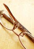 eyeglasses παρουσιάζουν το υγρό &del Στοκ Εικόνα