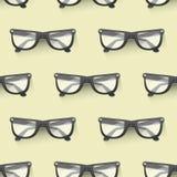 Eyeglasses πλαισίων θεαμάτων ήλιων υποβάθρου σχεδίων γυαλιών ηλίου μόδας βοηθητικό άνευ ραφής πλαστικό σύγχρονο διάνυσμα απεικόνιση αποθεμάτων