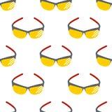 Eyeglasses πλαισίων υποβάθρου σχεδίων θεαμάτων ήλιων γυαλιών ηλίου μόδας βοηθητικό άνευ ραφής πλαστικό σύγχρονο διάνυσμα διανυσματική απεικόνιση