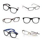 Eyeglasses συλλογή που απομονώνεται στο λευκό Στοκ Φωτογραφία