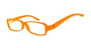Eyeglasses του πορτοκαλιού χρώματος Στοκ Φωτογραφία