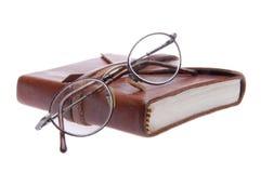 eyeglasses τρύγος δέρματος περιο&de Στοκ φωτογραφίες με δικαίωμα ελεύθερης χρήσης