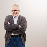 eyeglasses φθορά πουλόβερ ατόμων Στοκ Εικόνες