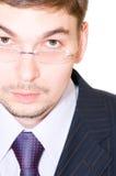 eyeglasses бизнесмена серьезные стоковое изображение rf