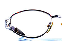 Eyeglasses. Female eyeglasses. Over white background Stock Image