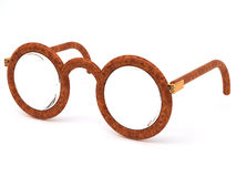 Eyeglasses. Brown eyeglasses on white background Royalty Free Stock Photo