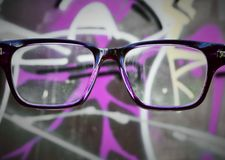 Eyeglasses. Abstract, grafitti and sign Stock Photos