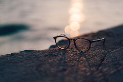 Eyeglasses on beach