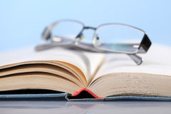 Eyeglasses on book Royalty Free Stock Photography