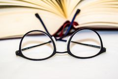 Eyeglasses with book