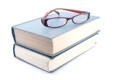 Eyeglasses on books Royalty Free Stock Image