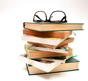 Eyeglasses on books Royalty Free Stock Images