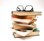 Eyeglasses on books Royalty Free Stock Images