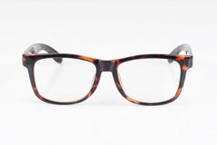 Eyeglasses with brown frame isolated Royalty Free Stock Images