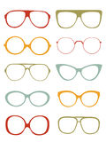 Eyeglasses collection Stock Photography