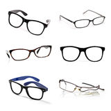 Eyeglasses collection isolated on white Stock Photography