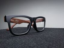 Eyeglasses on dark background