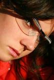 Eyeglasses desgastando dos esportes da menina Imagem de Stock Royalty Free