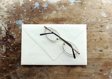 Eyeglasses with envelope Stock Photography