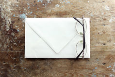 Eyeglasses with envelope Stock Images