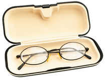 Eyeglasses in eyeglass case Royalty Free Stock Image