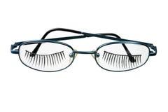 Eyeglasses with Eyelashes Royalty Free Stock Photos