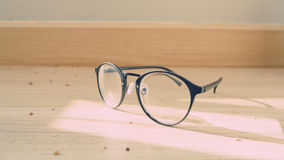 Eyeglasses on the floor. Royalty Free Stock Photography