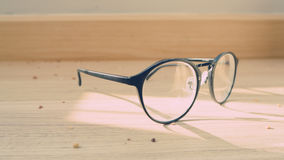 Eyeglasses on the floor. Stock Images