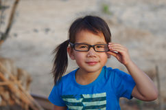 Eyeglasses for girls Stock Image