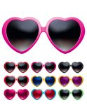 Eyeglasses heart shape set isolated. Vector realistic Royalty Free Stock Photo